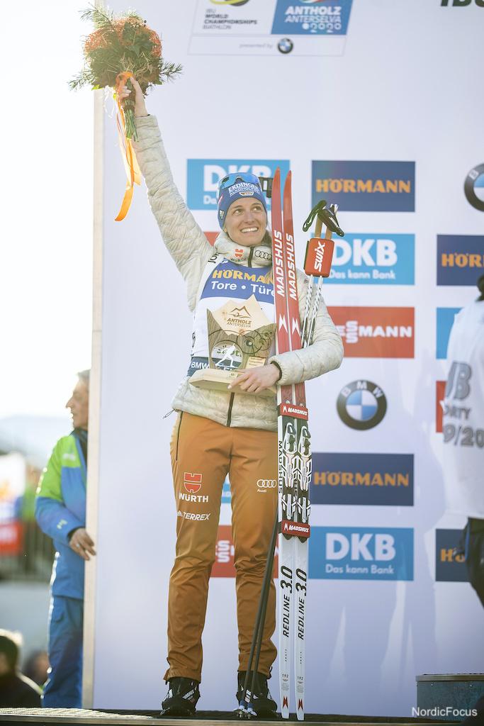 Vanessa Hinz Weltcup Podest